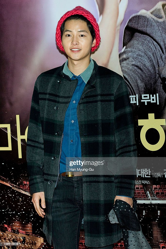 South Korean actor Song Joong-Ki attends the 'My Little Hero' VIP Screening at CGV on January 3, 2013 in Seoul, South Korea. The film will open on January 09 in South Korea.