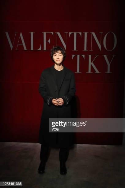 South Korean actor Song Joong-ki attends the Valentino TKY 2019 Pre-Fall Show at Terada Warehouse on November 27, 2018 in Tokyo, Japan.