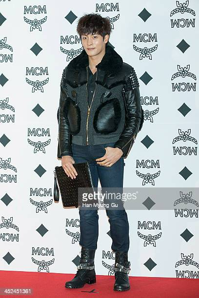 South Korean actor Sung Hoon attends the MCM S/S 2014 Seoul Fashion Show at Lotte Hotel on November 26, 2013 in Seoul, South Korea.
