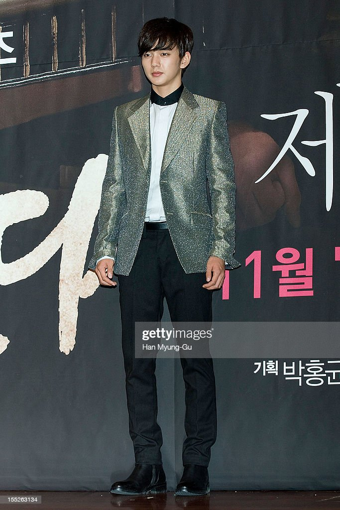 South Korean actor Yoo Seung-Ho attends during a press conference to promote the MBC drama 'Miss You' on November 01, 2012 in Seoul, South Korea. The drama will open on November 07 in South Korea.