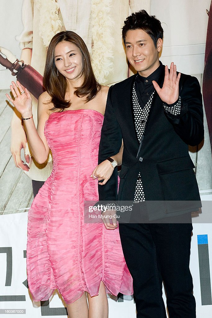 South Korean actors Han Chae-Young and Jo Hyun-Jae attend the KBS2 Drama 'AD Genius Lee Tae-Baek' Press Conference at Conrad Hotel on January 30, 2013 in Seoul, South Korea. The drama will open on February 04 in South Korea.