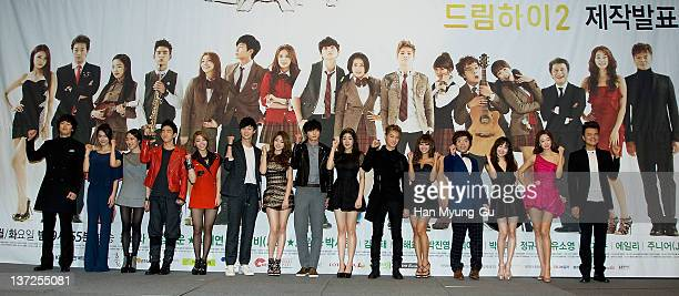 South Korean actors Kim JungTae and GaHee and Jung YeonJu and Jr and Ailee and Park SeoJun and Park JiYeon and Jinwoon and Kang SoRa and JB and...