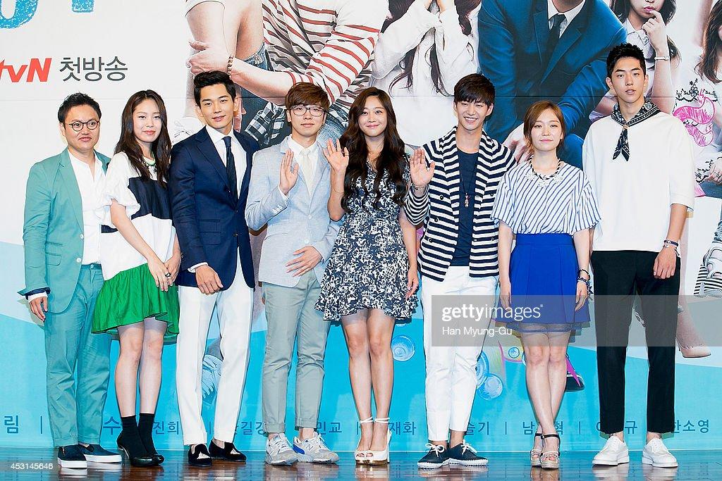South Korean actors Kim Min-Kyo, Park Ji-Soo, On Joo-Wan