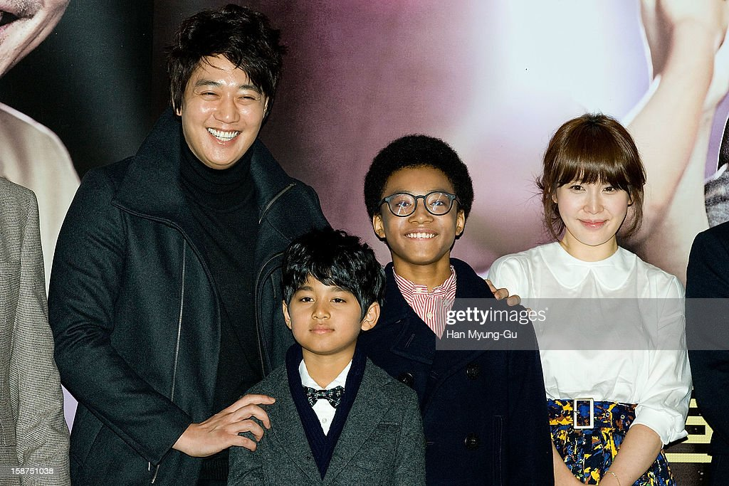 South Korean actors Kim Rae-Won, Ji Dae-Han, Hwang Yong-Yon and Cho Ahn (Jo An) attend the 'My Little Hero' press screening at CGV on December 27, 2012 in Seoul, South Korea. The film will open on Janeary 10, 2013 in South Korea.