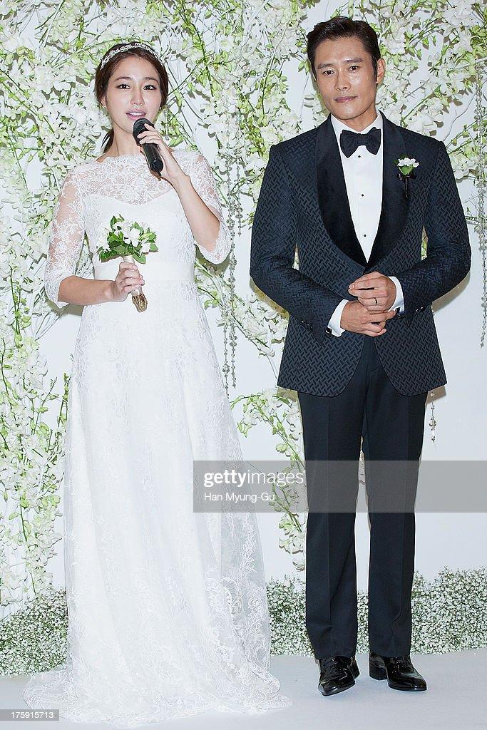 Lee Byung-Hun and Rhee Min-Jung Wedding