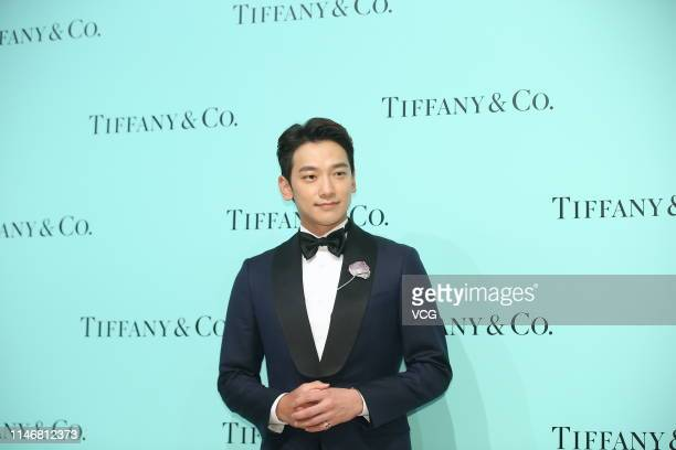South Korean actor/singer Rain attends the Four Seasons of Tiffany event on May 3 2019 in Taipei Taiwan of China