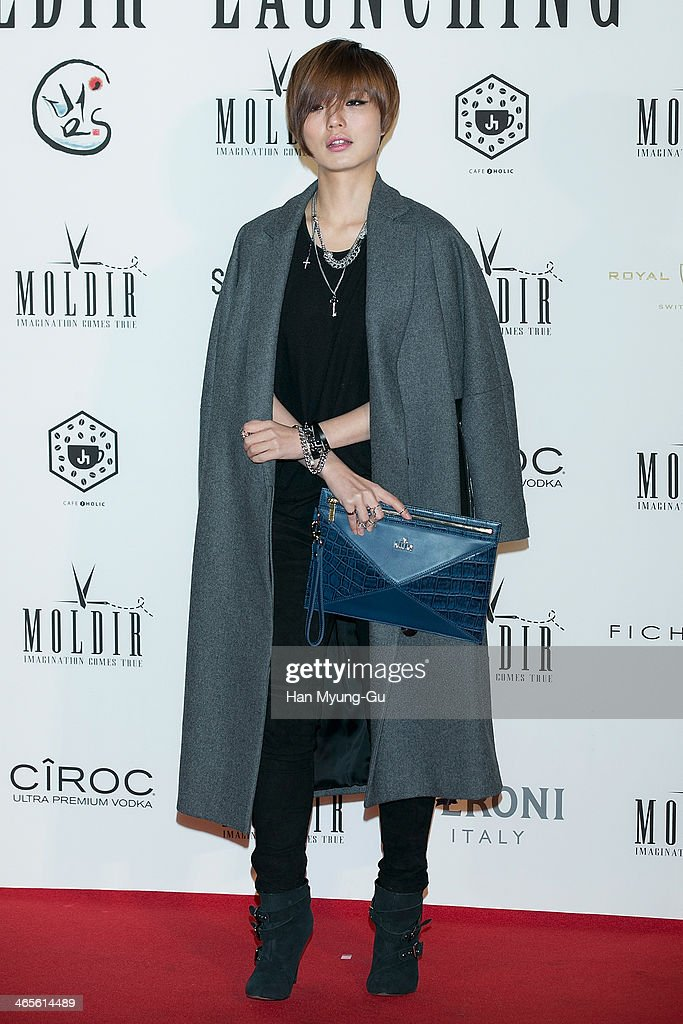 South Korean actress Ahn Young-Mi attends the Moldir Launching Party on January 24, 2014 in Seoul, South Korea.