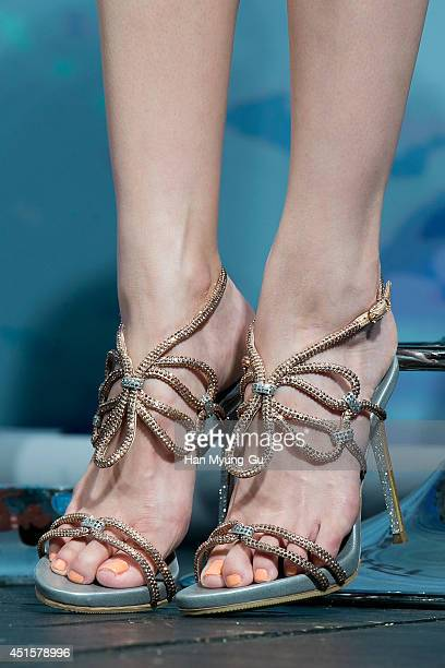 South Korean actress and singer Lee JungHyun attends the press conference for Roaring Currents at CGV on June 26 2014 in Seoul South Korea The film...