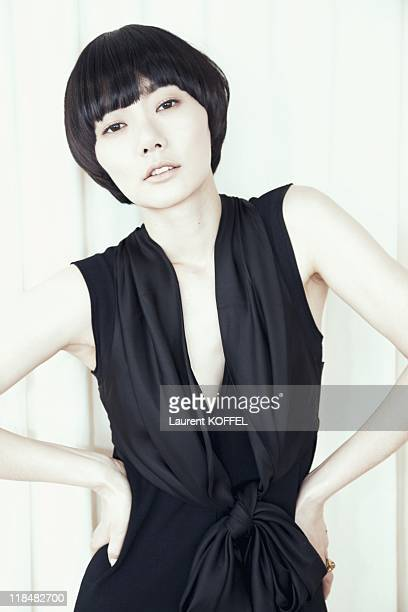 South Korean actress Bae Doona poses during a portrait session held at the Cannes film festival on May 14 2009 in Cannes France