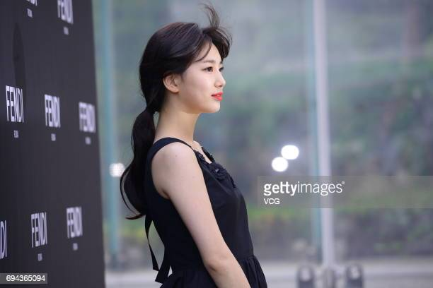 South Korean actress Bae Suzy attends the promotional event of Fendi on June 9 2017 in Seoul South Korea