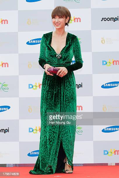 South Korean actress Byun JungSoo arrives for photographs at the Seoul International Drama Awards 2013 at National Theater on September 5 2013 in...