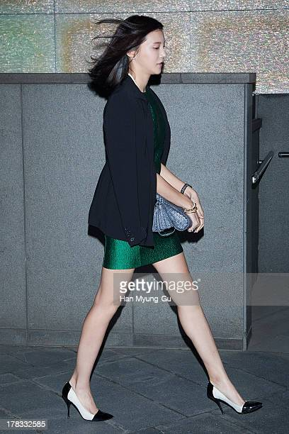 South Korean actress Cha YeRyun attends during the Loudmut launching fashion show at the JNB gallery on August 29 2013 in Seoul South Korea