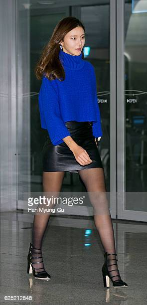 South Korean actress Cha YeRyun attends the photocall for CHUNGDAM Collection at the DDP on November 22 2016 in Seoul South Korea