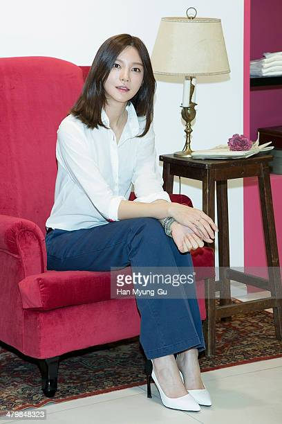 South Korean actress Cha YeRyun attends the UNIQLO Ines De La Fressange Paris Collection event at Uniqlo Apgujeong Store on March 20 2014 in Seoul...