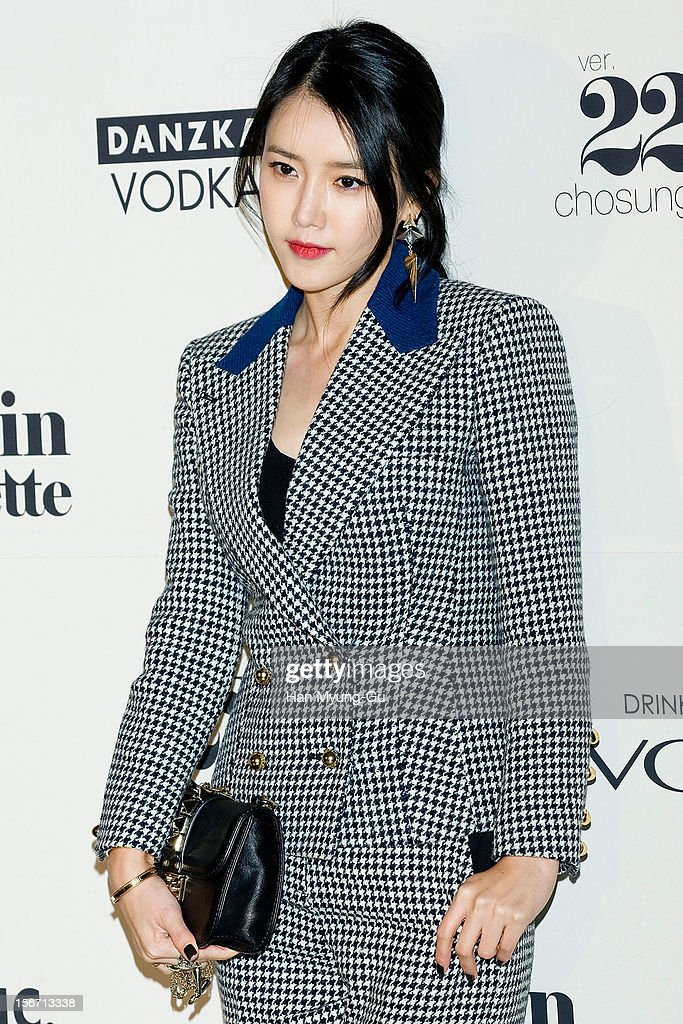 South Korean actress Chae Jung-An attends during a promotional event of the 'Jardin de Chouette' 2013 S/S Collection at AX Korea on November 19, 2012 in Seoul, South Korea.
