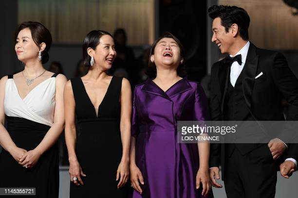 TOPSHOT South korean actress Chang Hyaejin South Korean actress Cho YeoJeong South Korean actress Lee JungEun and South Korean actor Lee Sunkyun...