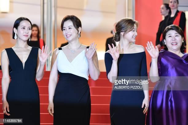 South Korean actress Cho Yeojeong South korean actress Chang Hyaejin South Korean actress Park Sodam and South Korean actress Lee JungEun arrive for...