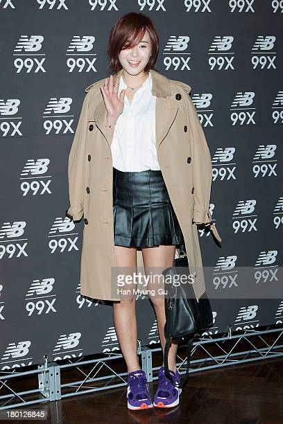 South Korean actress Choi GangHee attends the New Balance 99X VIP Exhibition at CGV on September 9 2013 in Seoul South Korea