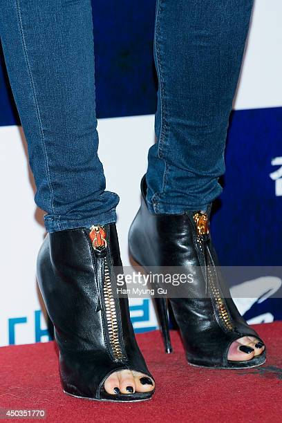 South Korean actress Choi JiWoo attends 'High Heel' VIP Screening at Lotte Cinema on June 2 2014 in Seoul South Korea The film will open on June 04...
