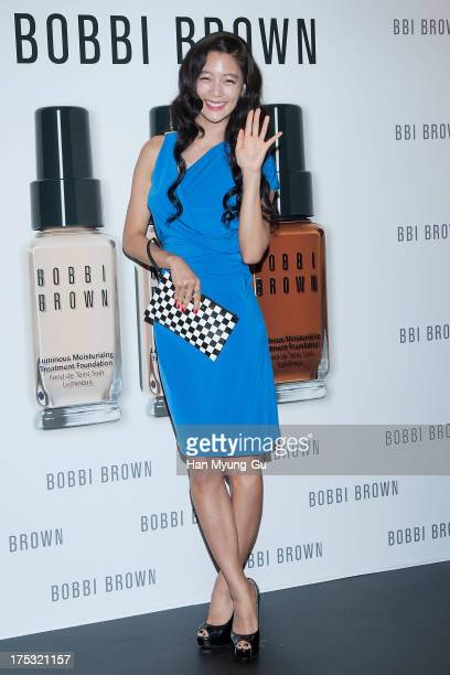 South Korean actress Clara attends during a promotional event for the 'Bobbi Brown' Pop Up Lounge Opening Party on August 2 2013 in Seoul South Korea