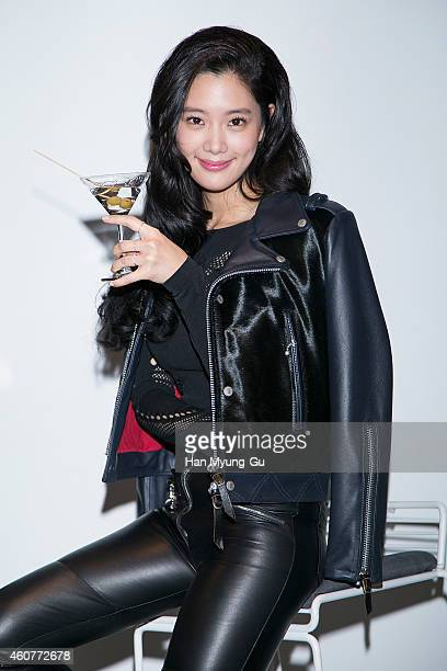 South Korean actress Clara attends the launch event for Crystal Head Vodka at Behive on December 22 2014 in Seoul South Korea