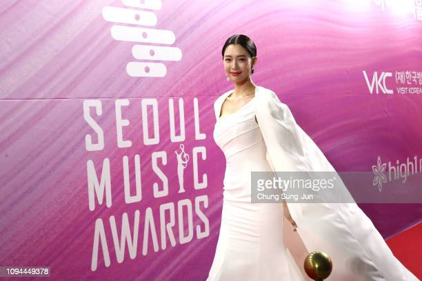 South Korean actress Clara attends the Seoul Music Awards on January 15 2019 in Seoul South Korea