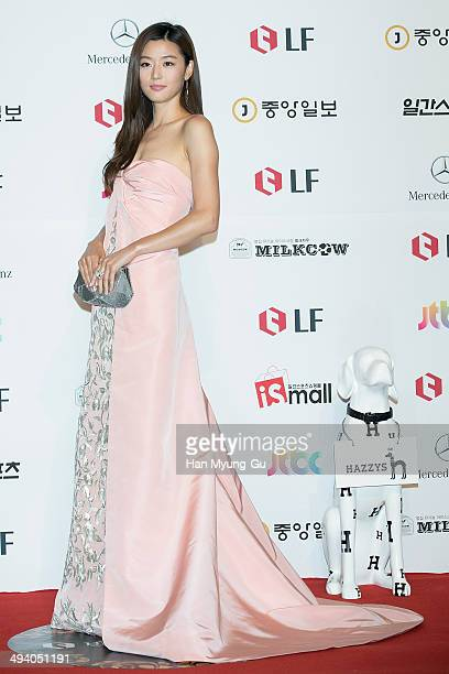 South Korean actress Gianna Jun attends the 50th Paeksang Arts Awards on May 27, 2014 in Seoul, South Korea.