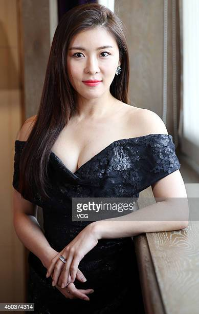 South Korean actress Ha JiWon attends a press conference at Palais de Chine Hotel on June 9 2014 in Taipei Taiwan