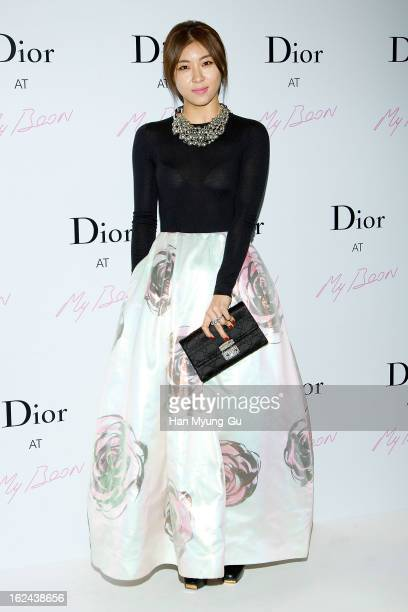 South Korean actress Ha JiWon attends a promotional event for the 'Christian Dior' Pop Up Store Opening at My Boon on February 22 2013 in Seoul South...