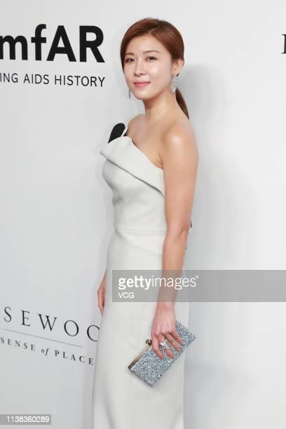 South Korean actress Ha Jiwon attends the amfAR Gala Hong Kong 2019 at the Rosewood Hong Kong on March 25 2019 in Hong Kong China