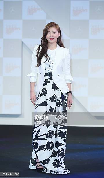 South Korean actress Ha Jiwon attends the Vogue Fashion's Night Out on April 30 2016 in Taipei Taiwan of China