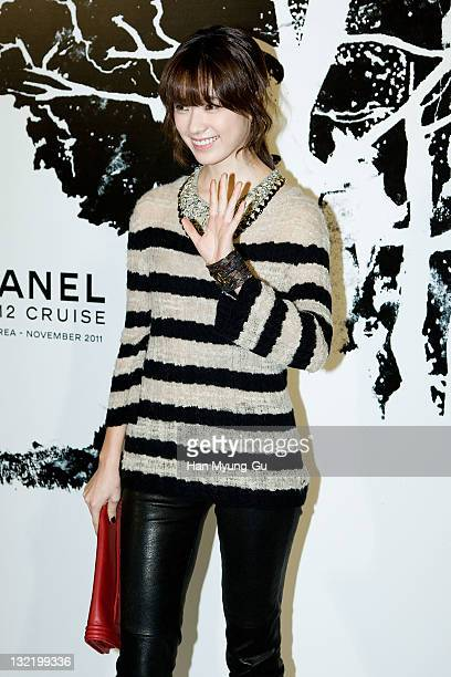 South Korean actress Han HyoJoo arrives for the 2011/12 Cruse Collection by Chanel at AXKorea on November 10 2011 in Seoul South Korea Models...