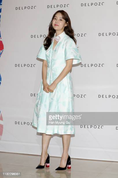 South Korean actress Han Ji-Hye attends the photocall for 'DELPOZO' on February 26, 2019 in Seoul, South Korea.