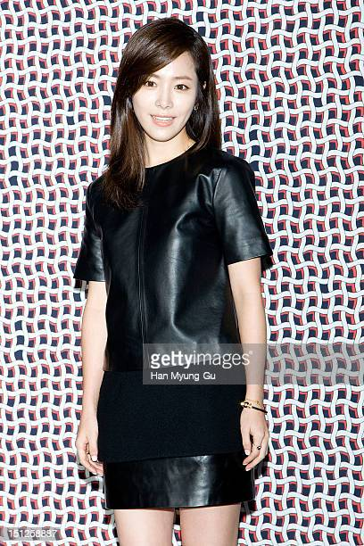 South Korean actress Han JiMin attends during the launch event of 'DEMIN' 2012 F/W Collection on September 04 2012 in Seoul South Korea