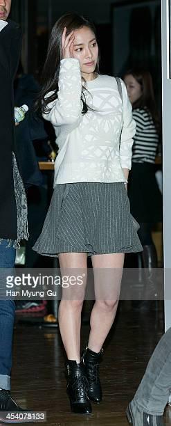 South Korean actress Han JiMin attends The Way Home VIP screening at CGV on December 6 2013 in Seoul South Korea The film will open on December 11 in...
