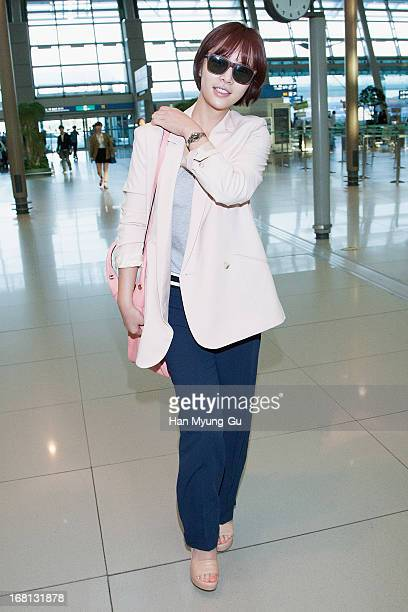 South Korean actress Hwang JungEum is seen on departure at Incheon International Airport on May 5 2013 in Incheon South Korea