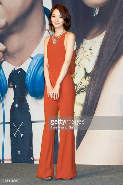 South Korean actress Jang Hee-Jin attends a press conference to promote KBS drama 'Big' at Lotte Hotel on May 29, 2012 in Seoul, South Korea. The...