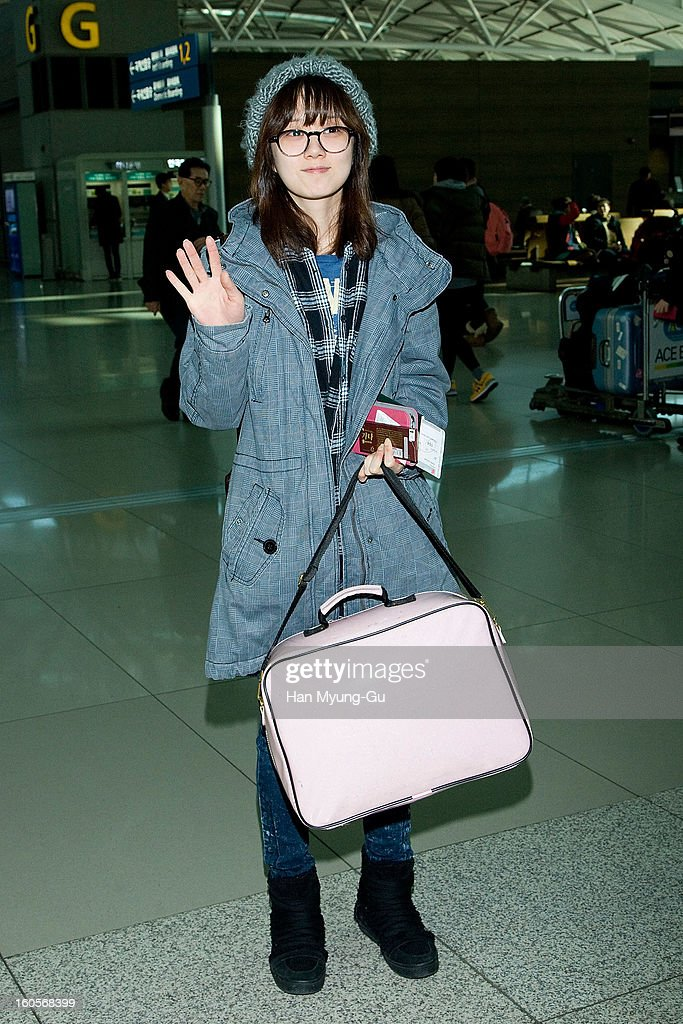 South Korean actress Jang Na-Ra is seen at Incheon International Airport on February 2, 2013 in Incheon, South Korea.