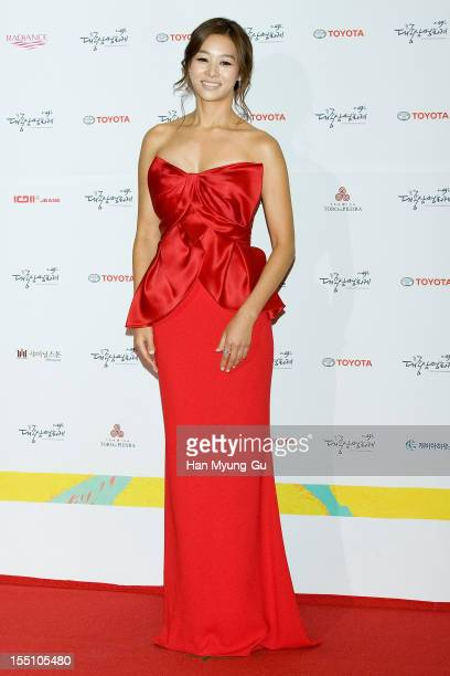 South Korean actress Jang ShinYoung attends the 49th Daejong Film Awards at KBS Hall on October 30 2012 in Seoul South Korea
