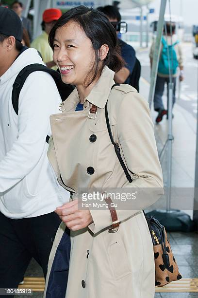 South Korean actress Jeon DoYeon is seen on departure at Incheon International Airport on September 13 2013 in Incheon South Korea