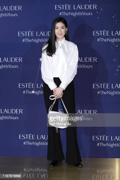 South Korean actress Jung EunChae attends the photocall for 'Estee Lauder' at the Shilla hotel on August 13 2019 in Seoul South Korea