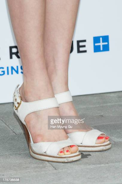 South Korean actress Jung KaEun attends during a promotional event for the 'Lab Series' Launch Party on August 7 2013 in Seoul South Korea