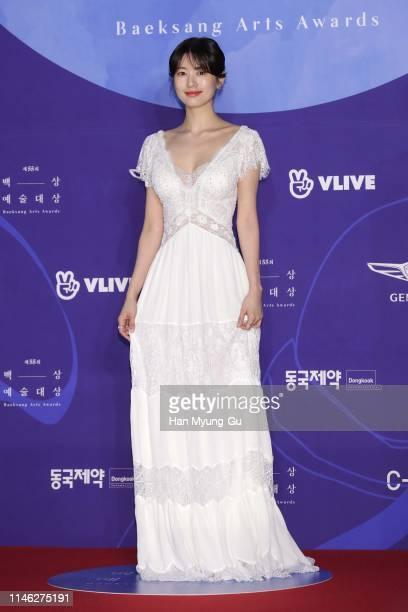 South Korean actress Jung So-Min attends the 55th Baeksang Arts Awards at COEX D Hall on May 01, 2019 in Seoul, South Korea.