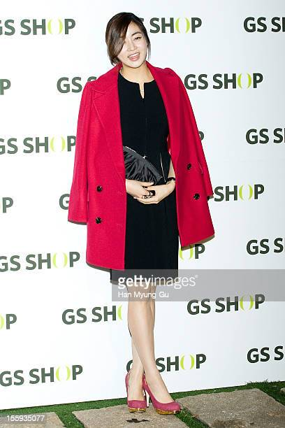 South Korean actress Kang SoRa attends a promotional event of 'GS Shop' 2012 Winter Collection Launching Party on November 8 2012 in Seoul South Korea