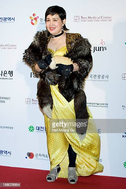 South Korean actress Kim Ae-Kyung attends the 1st K-Drama Star Awards at Daejeon Convention Center on December 8, 2012 in Daejeon, South Korea.