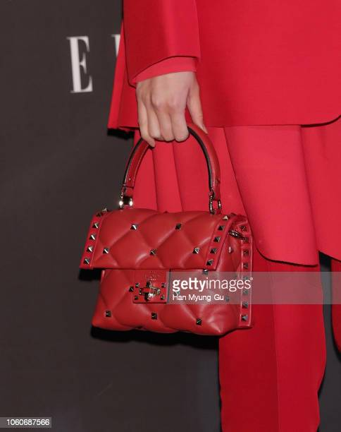 South Korean actress Kim DaMi bag detail attends during 2018 The ELLE Style Awards on November 12 2018 in Seoul South Korea