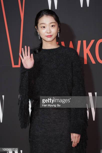 South Korean actress Kim DaMi poses for photographs at the W Magazine Korea Breast Cancer Awareness Campaign 'Love Your W' at Four Seasons Hotel on...