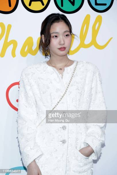 South Korean actress Kim GoEun attends the party for the launch of CHANEL X PHARRELL Capsule Collection on March 28 2019 in Seoul South Korea