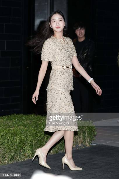 """South Korean actress Kim GoEun attends the photocall for CHANEL """"The New J12"""" launch event on May 08 2019 in Seoul South Korea"""