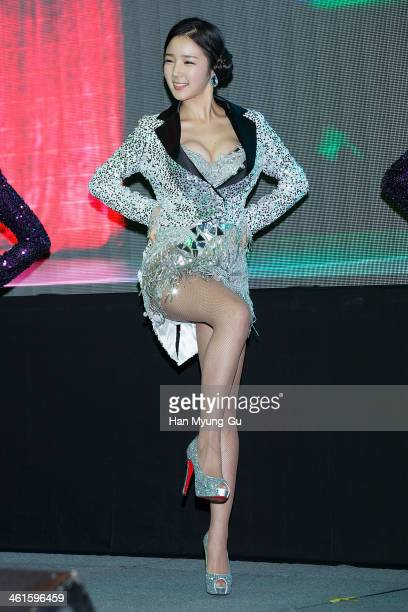 South Korean actress Kim Haeun attends the KBS Drama Inspiring Generation press conference on January 9 2014 in Seoul South Korea The drama will open...